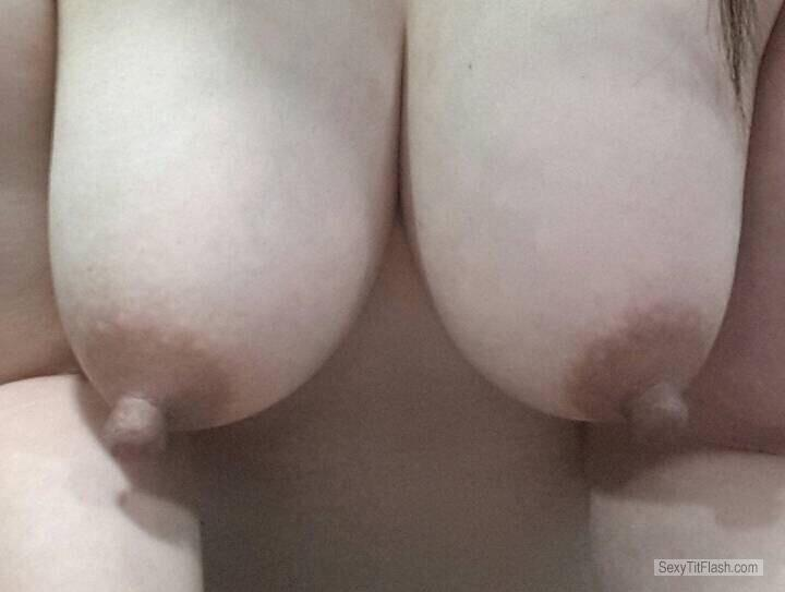 Tit Flash: Girlfriend's Medium Tits - KK from United Kingdom